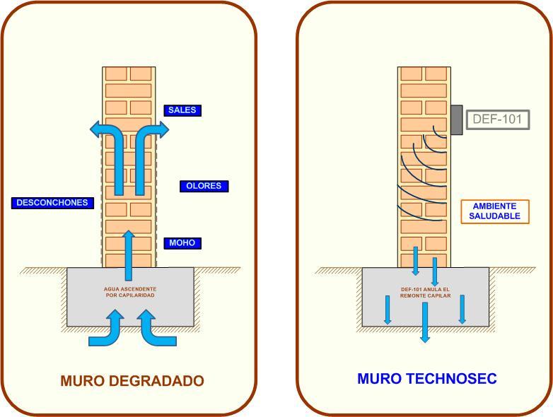 Humedades por capilaridad caracter sticas y soluciones - Soluciones para paredes con humedad ...